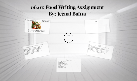 06.01: Food Writing Assignment
