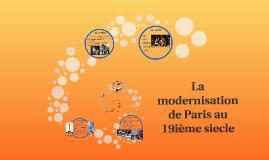 La modernisation de Paris au 19eme siecle