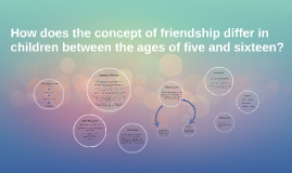 How does the concept of friendship differ in children betwee