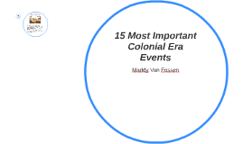 15 Most Important Colonial Era Events