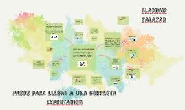 Copy of Pasos Para llegar a una correcta Exportacion