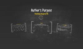 Copy of Author's Purpose: Thinking Beyond PIE