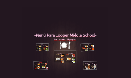 -Menú Para Cooper Middle School-