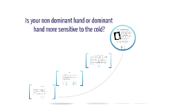 Copy of Is your non dominant hand or dominant hand more sensitive to