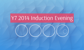 Y7 2014 Induction Evening