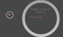 Poetry Unit Day 12, Final Day!