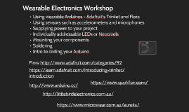 Wearable Electronics Workshop Pro Trinket