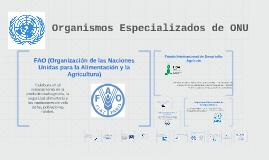 Organismos Especializados de ONU