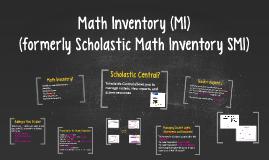 Math Inventory (MI)