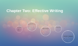 Chapter Two: Effective Writing