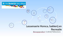 Copy of Lessenserie Horeca, bakkerij en Recreati