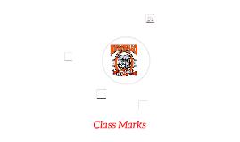 Class Marks