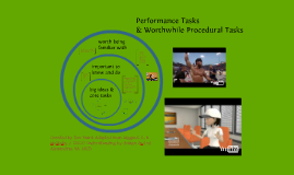 Performance Tasks & Worthwhile Procedural Tasks