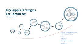 Key Supply Strategies For Tomorrow