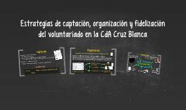 Estrategias de captación, organización y fidelización del voluntariado en la CdA Cruz Blanca