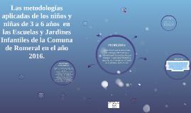 Copy of Las metodologías aplicadas de los niños y niñas de 3 a 6 año