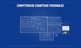 COMPETENCIAS COGNITIVAS PERSONALES