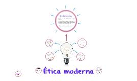 Ética Moderna