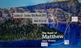 Matthew 10:24-42