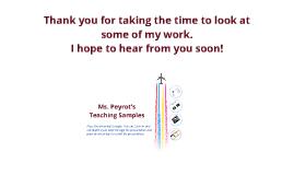 Teacher Work Samples & Highlights