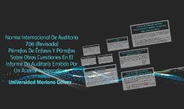 Norma Internacional De Auditoría 706 (Revisada)