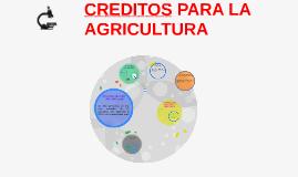CRÉDITOS PARA LA AGRICULTURA