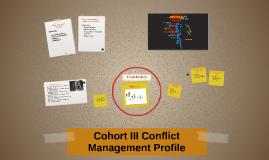 Cohart III Conflict Strategies Profile