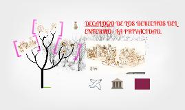 Copy of Copy of DECALOGO DE LOS DERECHOS DEL ENFERMO : LA PRIVACIDAD.