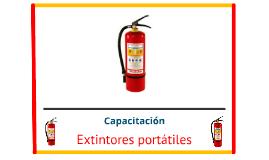 CAPACITACIÓN EXTINTORES PORTATILES