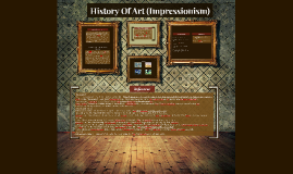 History of Art (Impressionism)
