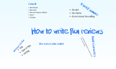 How to write film reviews