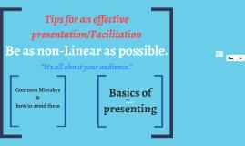 Presentation Vs Facilitation