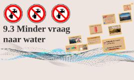 RSC: 3.3 Minder vraag naar water & 3.4 Het aanbod vergroten