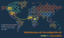 Subsistemas de investigación de mercados