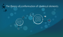 the theory of conformation of chemical elements