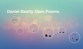 Copy of Daniel Beatty Slam Poems