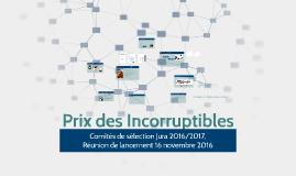 Comités de sélection 2016/2017 Prix des Incorruptibles