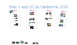 Canberra Trip 2019 Itinerary
