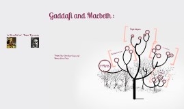 Copy of Copy of Gaddafi and Macbeth : A Parallel of Two Tyrants