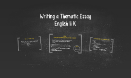 Writing a Thematic Essay
