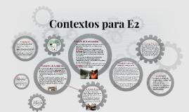 Español 04. Contextos de la iglesia y la comunidad para E2