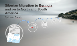 Siberian Migration to Beringia and on to North and South Ame