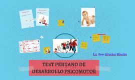 TEST PERUANO DE DESARROLLO PSICOMOTOR
