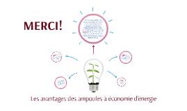 Les avantages des ampoules à économie d'énergie