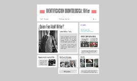 IDENTIFICACION ODONTOLOGICA: Hitler