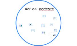 ROL DEL DOCENTE