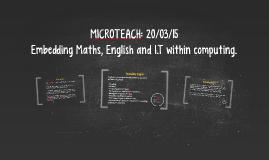 MICROTEACH: 20/03/15