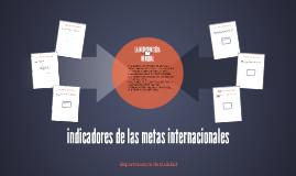 indicadores de las metas internacionales
