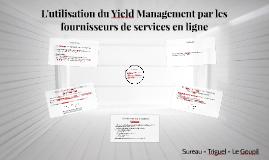 L'utilisation du Yield Management par les fournisseurs de se