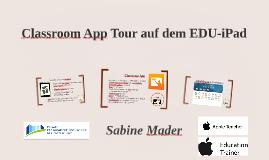 Classroom App Tour auf dem EDU-iPad